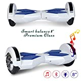 COLORWAY Smart Scooter Electronik Sicherheit Zertifiziert Hoverord 8 Zoll mit Bluetooth & LED Self...
