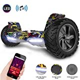 GeekMe Hoverboard All Terrain Self Balancing Scooter mit leistungsstarker LED-Motorbeleuchtung...