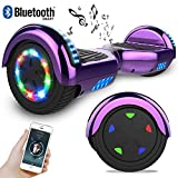 RCB Hoverboard Elektro Skateboard 6,5' Smart Self Balance Scooter mit bunten Lichter Bluetooth...