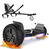 FUNDOT Hoverboards with seat,All Terrain Hoverboards with hoverkart ,8.5 inch Self Balancing Scooter...