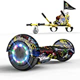 GeekMe Hover Scooter Boards mit Hoverkart, 6,5 Zoll Self Balance Scooter mit Hoverkart, LED-Leuchten...