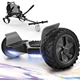 GeekMe Hoverboards mit Hoverkart,Off Road Hoverboards 8,5 Zoll mit APP, Bluetooth Lautsprecher, LED...