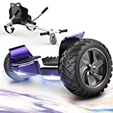 GeekMe Hoverboards mit Hoverkart,Off Road Hoverboards 8,5 Zoll mit Bluetooth Lautsprecher, LED...