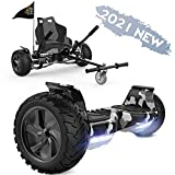 FUNDOT Hoverboards mit Sitz, All-Terrain-Hoverboards mit Hoverkart,8,5 Zoll Go-Kart mit Self...